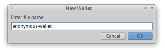 create new anonymous Electrum wallet